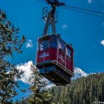 A Jasper Tramway tram - A Jasper Tramway tram leaving the base station - Canadian Rockies
